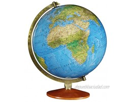 Replogle Odessa Blue Ocean 2-Way Map Illuminated World Globe Raised Relief Up-to-Date Cartography Made in USA12 30cm Diameter